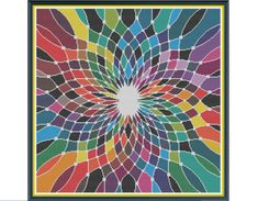 Geometric 6 - Groovy - Counted Cross Stitch Pattern by HornswoggleStore, $5.00 (abstract, modern, fractal)