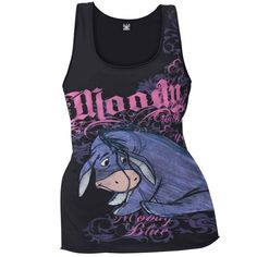 Winnie The Pooh - Moody Eeyore Juniors Tank Top Eeyore Quotes, Winnie The Pooh Quotes, Winnie The Pooh Friends, Eeyore Gifts, Disney Outfits, Cute Outfits, Eeyore Pictures, Cool Shirts, Awesome Shirts
