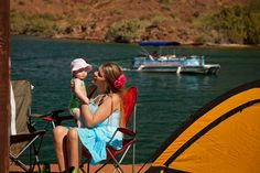 Would you rather go boating or camping? Why not do both at a boat-in campsite on Lake Havasu, Arizona?