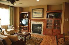 Lovely Living Room With Fireplace - plan #072S-0002   houseplansandmore.com