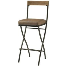 Hillsdale Thornhill Folding Bar Stool in Distressed Washed Ash