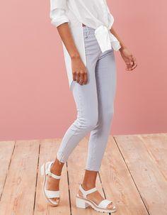 Print skinny fit trousers