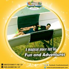 """"""" Good news for all the thrill seekers in Pune. Check out the adrenaline fuelled rides at  Krushnai Water park. Enjoy the best and widest collection of water rides for all ages and sizes.  Do not forget to follow the safety tips especially if you have anyone with disability,  pregnant woman, anyone with heart or back problem.  All the rides have boards indicating safety tips and precautions needed to be taken by riders.  Book- 020-24388136/37 Visit - http://www.krushnaiwaterpark.com/"""