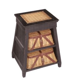 Fishing creel end table