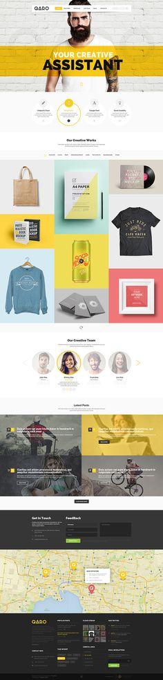 QARO - Clean & Modern WebTemplate on Behance
