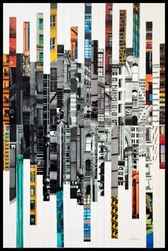 Patchwork City 65 by Marilyn Henrion : Other media Collage on Canvas - Singulart Patchwork City 65 by Marilyn Henrion : Other media Collage on Canvas - Singulart Patchwork City 65 by Marilyn Henrion : Painting Collage - Singulart<br> Collage Kunst, City Collage, Art Du Collage, Painting Collage, Canvas Collage, Collage Book, City Painting, Collage Ideas, Photomontage