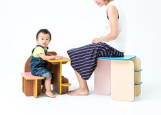 Wow. Love it!  This six-sided piece of furniture can be flipped over to reveal different functions.