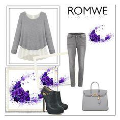 """ROMWE"" by ajdin-lejla ❤ liked on Polyvore featuring Vero Moda, Hermès and Fendi"