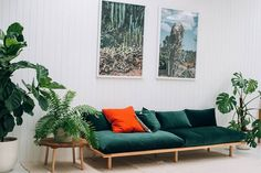 P&S Dream Couch in Emerald Green Velvet at Pop&Scott, Starting at $3,570 AUDAustralian furniture brand Pop&Scott offers this minimalistic armless sofa in a luscious hunter green. International shipping is available, though the site doesn't specify the fee.