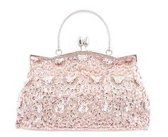 Glass Bead and Sequined Evening Bag (champagne) via: