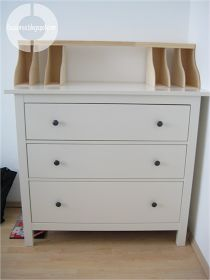 Build a secretary with a dresser and Ikea Knuff magazine files
