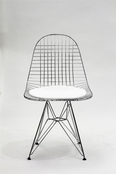 Eames wire chair. #chair  The delicacy and intricacy of the construction of this chair, is a reflection of the delicacy and construction of a macaron.