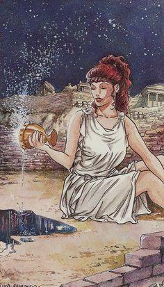 XVII. The Star: Olympus Tarot
