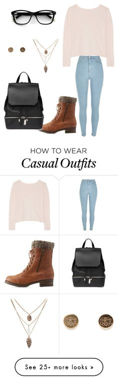 """""""Casual school day"""" by lanasabo-i on Polyvore featuring Banjo & Matilda, River Island, Charlotte Russe and COSTUME NATIONAL"""