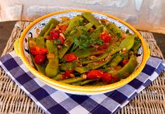 Italian Food Forever » Romano Beans With Pancetta & Tomatoes