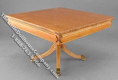 Miniature Square Dining Table for Dollhouses