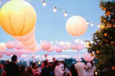 summer party / paper lanterns