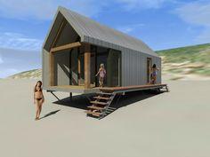 Like this idea Tiny House Cabin, Tiny House Living, Tiny House Design, Shed Homes, Prefab Homes, Modular Homes, Pole House, Casa Patio, Weekend House