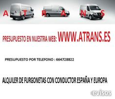 mudanza particulares y empresas  transportes, mudanzas, etc. con furgoneta de 3500. destino ..  http://peniscolapeniscola.evisos.es/mudanza-particulares-y-empresas-id-659740