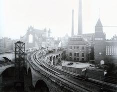 Die Östliche Stammstrecke - Das alte Gleisdreieck um 1902, Blickrichtung Osten
