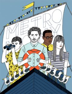 metronomy - amelie fontaine illustration .twice in a week cos' they're that good! 6 Music Festival (28/02), Kingston (March)