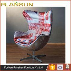 Airplane Furniture Aluminum Union Jack Aviator Aviation Egg Chair  #aviationfurniture