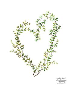heart  entwined giclee print  by Golly Bard