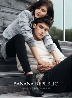 Miles Garber Poses with Girlfriend for Banana Republic Fall/Winter 2014 Ad Campaign
