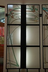 art nouveau stained glass from Monceau