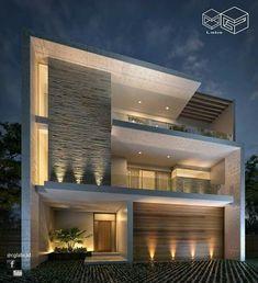 Hows the House Exterior design. Villa Design, Facade Design, Exterior Design, House Front Design, Modern House Design, House Elevation, Front Elevation Designs, Dream House Exterior, Facade House