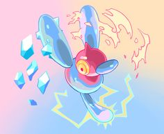 ginsengandhoney:  Porygon-Z used Tri Attack!Buy this as an all over print shirt here or here (as well as a sticker, mug, phone case, etc)