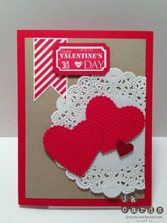 Stampin' Up!, Paper Craft Crew 29, Hearts a Flutter, That's the Ticket, Hearts a Flutter Framelits, Scalloped Heart of Hearts Embosslit, Small Heart Punch, Ticket Duo Builder Punch, Tea Lace Paper Doily