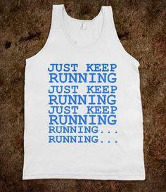 JUST KEEP RUNNING FINDING NEMO DISNEY RUNNER'S SHIRT