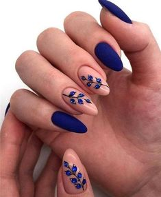50 stunning matte blue nails acrylic design for short nails - . - 50 stunning matte blue nails acrylic design for short nails - - Matte Acrylic Nails, Acrylic Nail Designs, Acrylic Art, Short Nails Acrylic, Blue Nail Designs, Acrylic Nails With Design, Acrylic Nails For Fall, Fall Nail Art, Marble Nails