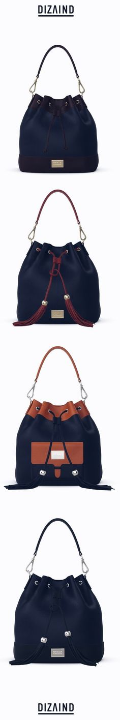 Customize your bag online. DIZAIND bags are hand made in Italy from the finest Italian leathers and delivered to your doors within 4 weeks. Navy Blue Color, Geek Chic, Office Fashion, Office Outfits, Online Bags, You Bag, Design Your Own, Italian Leather, Bucket Bag