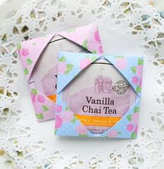 ♥ Lovely way to add tea to your Snail mail exchanges. ♥ for Snail mail art at its best.