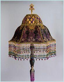 Imágenes Victorianas: Lámpara victoriana.