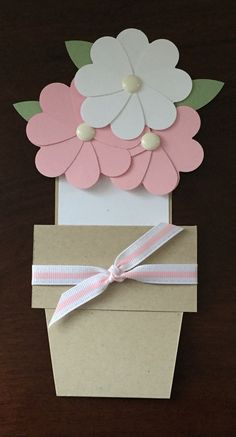 Mother's Day Flowerpot Greeting Card - Ash and Feather Designs