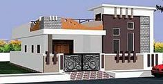 House front wall design indian 37 new ideas House Front Wall Design, Single Floor House Design, Village House Design, Bungalow House Design, Small House Design, Modern House Design, House Wall, Exterior House Colors, Exterior Design