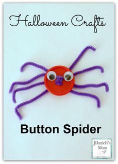Halloween Crafts- Button Spider