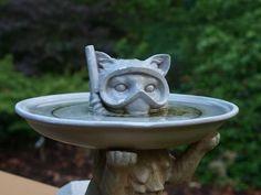 Scuba Cat, Unique Bird Bath Ideas http://cat-chitchat.pictures-of-cats.org/2011/03/scuba-cat-bird-bath.html