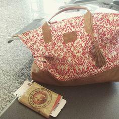 Enjoying my Sorayane Tote Bag, travelling from Paris to Siem Reap, Cambodia. Sorayane Leather & Batik Tote Bag [Shop link on profile]  #travel #paris #siemreap #cambodia #leather #indonesian #batik #totebag #handmade #bali #pepitashop