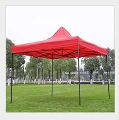 American Phoenix Tent 10x10 foot Red Party Tent Gazebo Canopy Commercial Fair Shelter Car Shelter Wedding Party Easy Pop Up - Red -- For more information, visit image link.