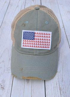 236e15b00a6 New Arrivals! JUDITH MARCH FLAG SAILBOAT PATCH - SKY BLUE American Flag  sailboat hat  38.00