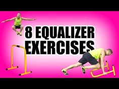 These 8 lebert equalizer exercises are great for fat burning, strength & cardio! Lebert equalizer bars are essentially portable dip bars. In this equalizer v. Bar Workout, Boot Camp Workout, Dip Bar, Too Much Stress, Workout For Flat Stomach, Different Exercises, Workout Machines, At Home Gym, At Home Workouts