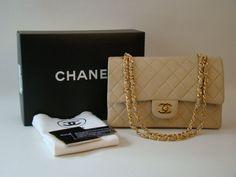 Chanel 2.55 Beige Classic Double Flap Bag