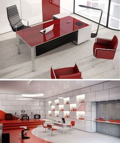 this is just for the colors and to bring in the red from the lobby but we don't want to overdo the red at the same time Modern Office Design, Office Interior Design, Office Interiors, Office Fit Out, Smart Office, Mdf Furniture, Office Furniture, Office Table, Office Workspace