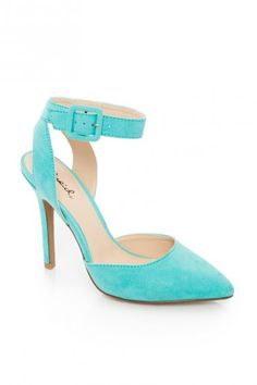 D'Orsay Ankle Strap Pump in Mint