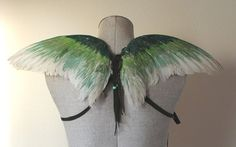 Real wearable freerange hand painted green by thegreenwolf on Etsy, $100.00