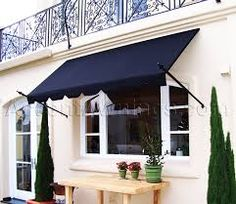 sunbrella black awning over front door - Google Search